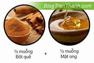 Công thức làm hỗn hợp bột quế và mật ong trị mụn