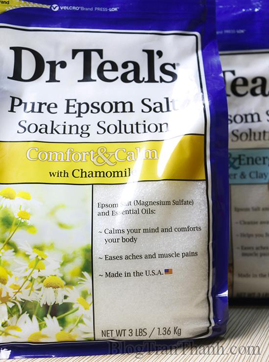 Muối Epsom Dr Teals - Chamomile Comfort & Calm - Hoa Cúc La Mã